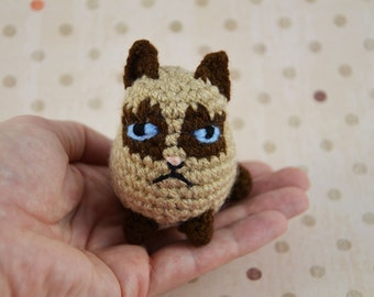 crocheted grim cat