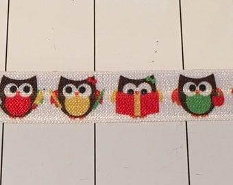 5 yds Cute Owl Stretchy Ribbon
