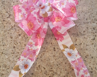 Floral Stripe bow