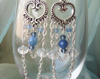 "Earrings ""Victoria"", dangle crystal earrings, long earrings, victorian earrings"