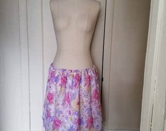 Pink Floral Skirt large to extra large