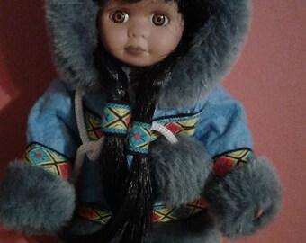 Alaskan Girl Doll -Wearing Full Parka Outfit