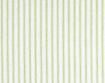 Kiwi (Green) Ticking Stripe Fabric by Premier Prints no.116