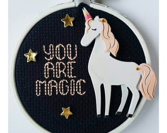 You Are Magic Embroidery Hoop