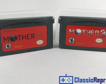 Mother 1 & 2 + Mother 3 - Earthbound - Gameboy Advance Fully Playable Fan Translated Cartridges With Case