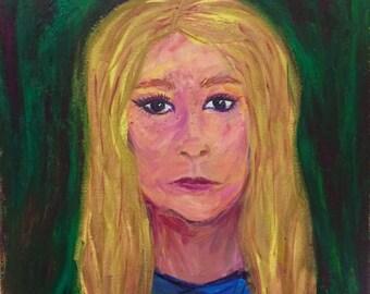 Portrait of a Girl, Acrylic Print