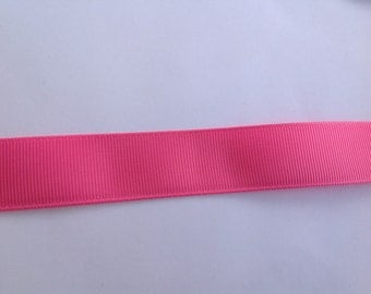 "7/8""  Solid Hot Pink inspired Grosgrain Ribbon  -  By The Yard"