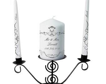 Personalised Ornate Swirl Unity Candle