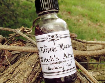 WITCH'S ALTAR Anointing Ceremonial Oil, 1 Ounce Ritual, Pagan, Wiccan, Metaphysical, Personal Power