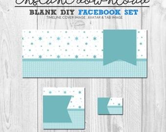 premade blank diy facebook timeline cover image, instant download facebook page graphics, diy facebook set, timeline image, pre-made fb set