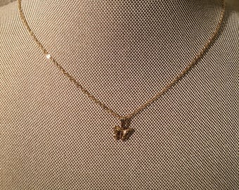 14k gold filled butterfly necklace