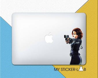 Black Widow MacBook Decal Black Widow MacBook Sticker Avengers Black Widow Decal Black Widow Laptop Decal Marvel Avengers Vinyl Decal bn007