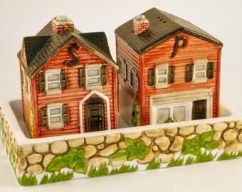 Vintage Salt & Pepper Shakers, Johnson Bros Friendly Village, Series 5 The Village Street