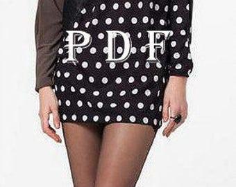 Digital Pattern -PDF Sewing Pattern by Style Adi - Sewing Project/ Women's Tunics / Summer Tunics / Chiffon Tunics - Sewing Project