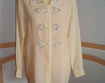Jacques Vert  Cream Blouse size uk12