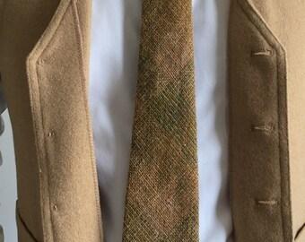 Vintage Mens Necktie, Harris Lochcarron Wool Necktie