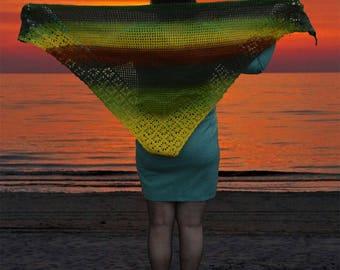 Crochet shoulder scarf,lace shawl, triangle scarf, crochet lace scarf,crochet scarf