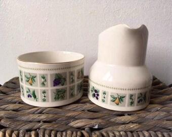 Royal Doulton Tapestry Sugar Bowl and Creamer Set