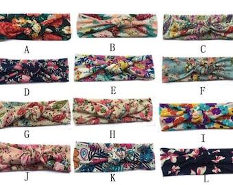 Newborn/Toddler/Girl Floral Knot Headbands