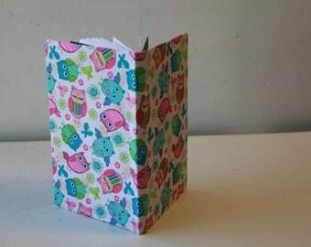 Handmade Owl Notebook/Journal