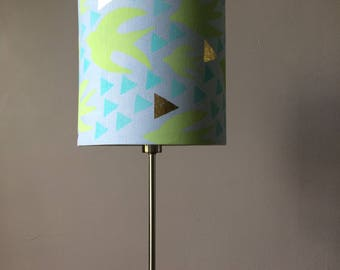 Blue swallow lampshade