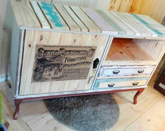 Sideboard table auxiliary industrial-style Vintage Lounge tables colors pallet wood natural pine Tv Cabinet