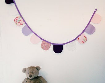 Garland of pennants, baby bunting, decoration nursery