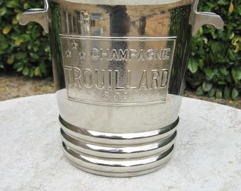A very Nice French Art- Deco  Plated Champagne Ice Bucket  ( Trouillard & Co )