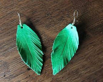 Leaf Green Feathers