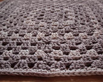 Crochet Taupe Rug Mat for your Home