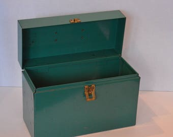 Small Green Metal Case