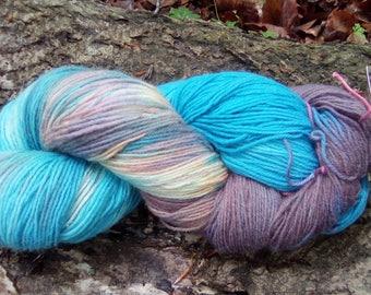 Hand-dyed 4 x socks wool