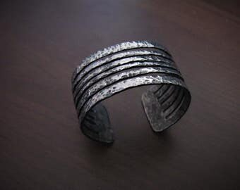 Hand-forged stainless Cuff Bracelet