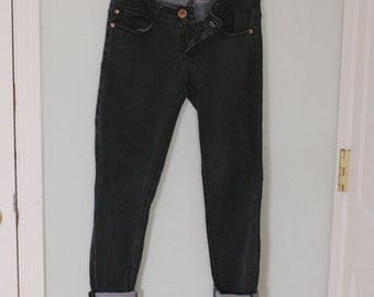 Vintage Black Stretch Denim Jeans Size 4