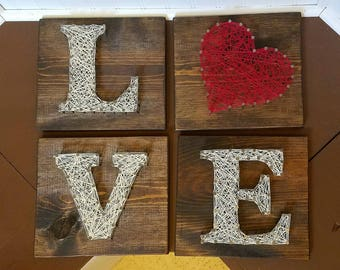 L-O-V-E String Letters (set of 4)