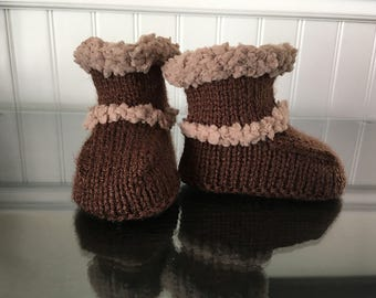 Baby boy 0-3 months booties