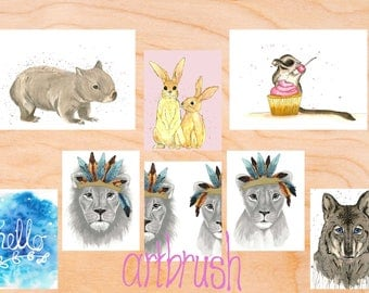 artbrush 'Gift Card Pack 2' (8 cards)