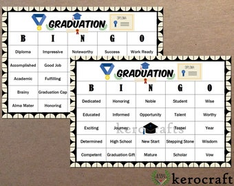 GRADUATION BINGO - 40 CARDS