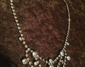 Vintage Rhinestone Necklace