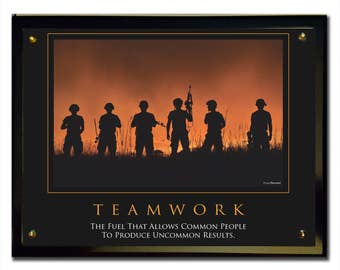 Teamwork (Army) Plaque