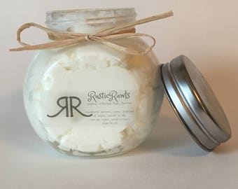 Honeycomb whipped body butter - natural, organic ingredients - thick, creamy body lotion - free shipping