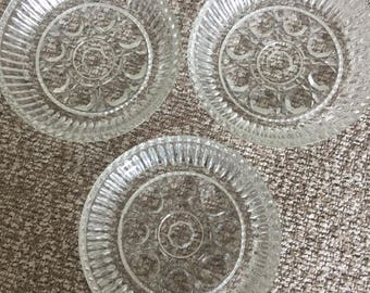 3 crystal coasters
