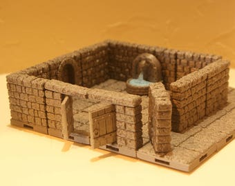 SALE! 3D Dungeon Tiles - Dungeon Room Option 1
