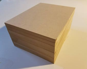 "1/4"" MDF 8.5x11 (22 Sheets) Medium Density Fiberboard"