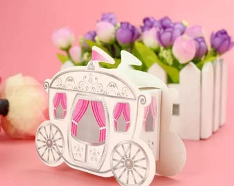 2 x wedding favour/pumpkin carriage gift box/creative gift box/candy gift box