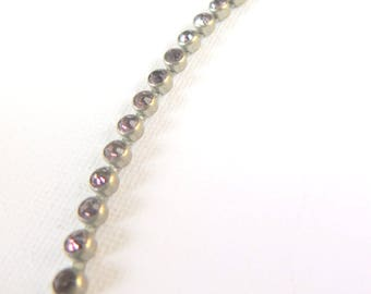 Delicate Art Deco lilac crystal gilt metal choker necklace