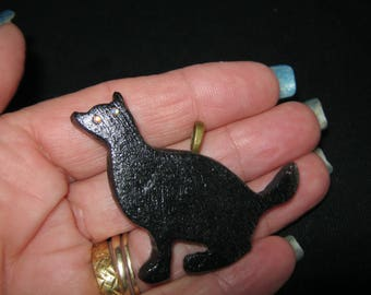 Black Cat Clay Pendannt