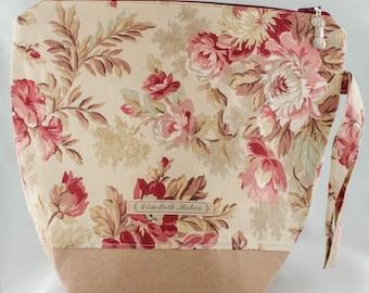 Floral Project Bag, medium