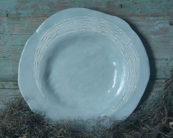 Ceramic Fish Plate Gray