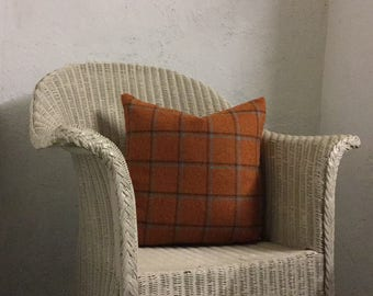 Checked Orange Scatter Cushion